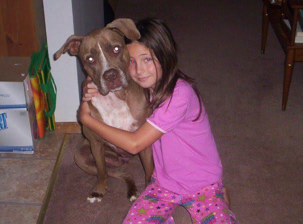 10-year-old Kayla and her pit bull, Nika. (Kayla Empey/Ryersonian)