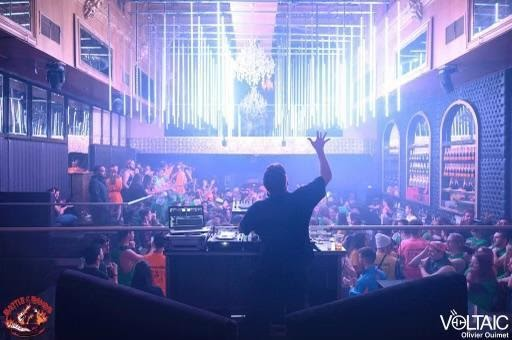 Justin Pye, artist name SKYPOLAR, DJing in Montreal a year before COVID-19