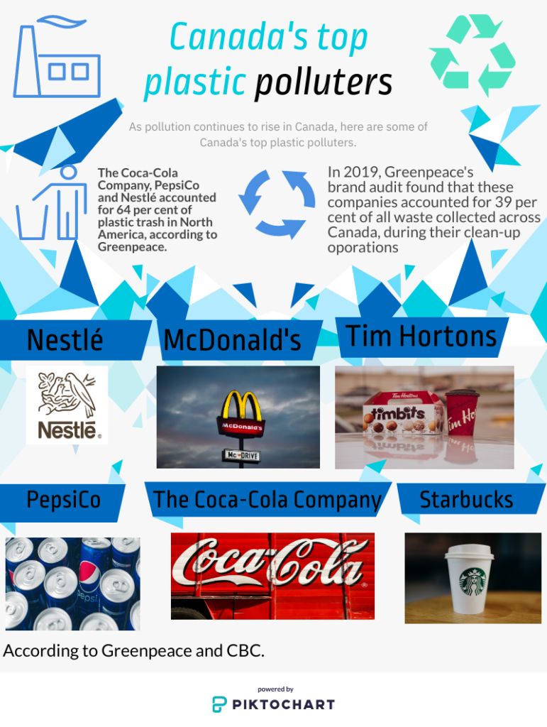 Infographic about plastic pollution