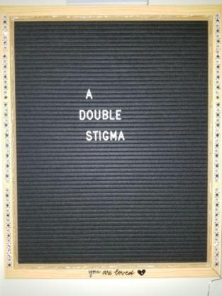 Black board with a double stigma